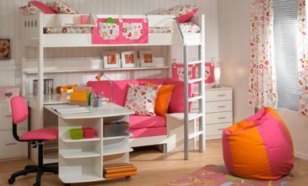 Blanco y rosa en el cuarto de una niña - Fanáticos Del Hogar