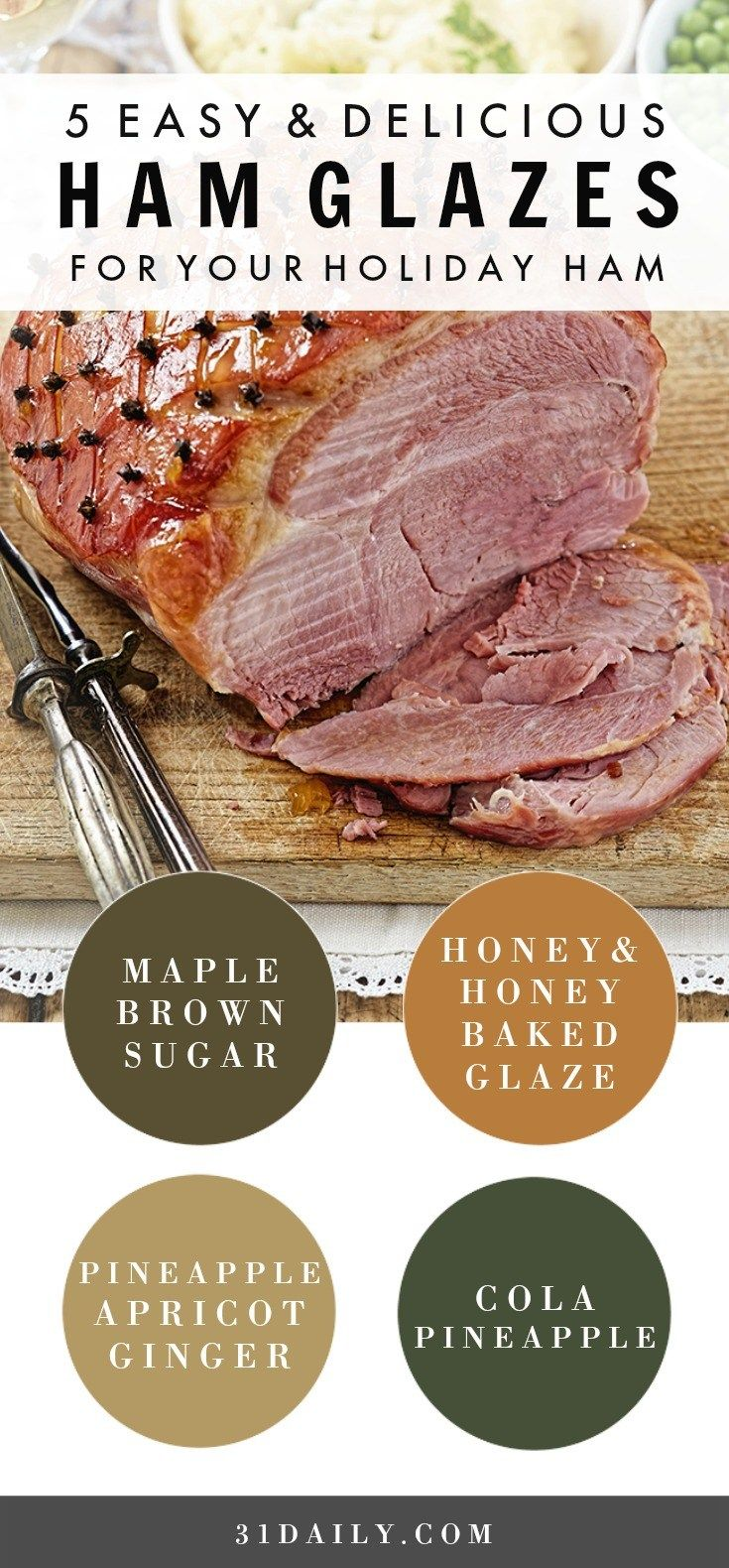 5 Easy and Delicious Glazes for Holiday Hams | 31Daily.com