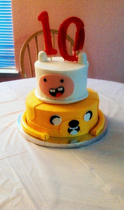 Adventure Time Cake.  Please ignore the broken numbers :/
