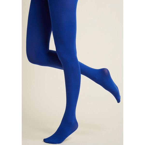 Accent Your Ensemble Tights in Royal Blue (400 UAH) ❤ liked on Polyvore featuring intimates, hosiery, tights, royal blue stockings, royal blue tights, opaque tights, opaque stockings and opaque pantyhose