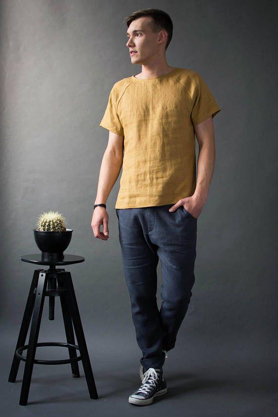 Men S Linen T Shirt Summer Short Sleeve Linen Shirt Round Neck Linen Shirt For Men Summer Linen Shirt Men Linen Shirt Men Summer Linen Shirt