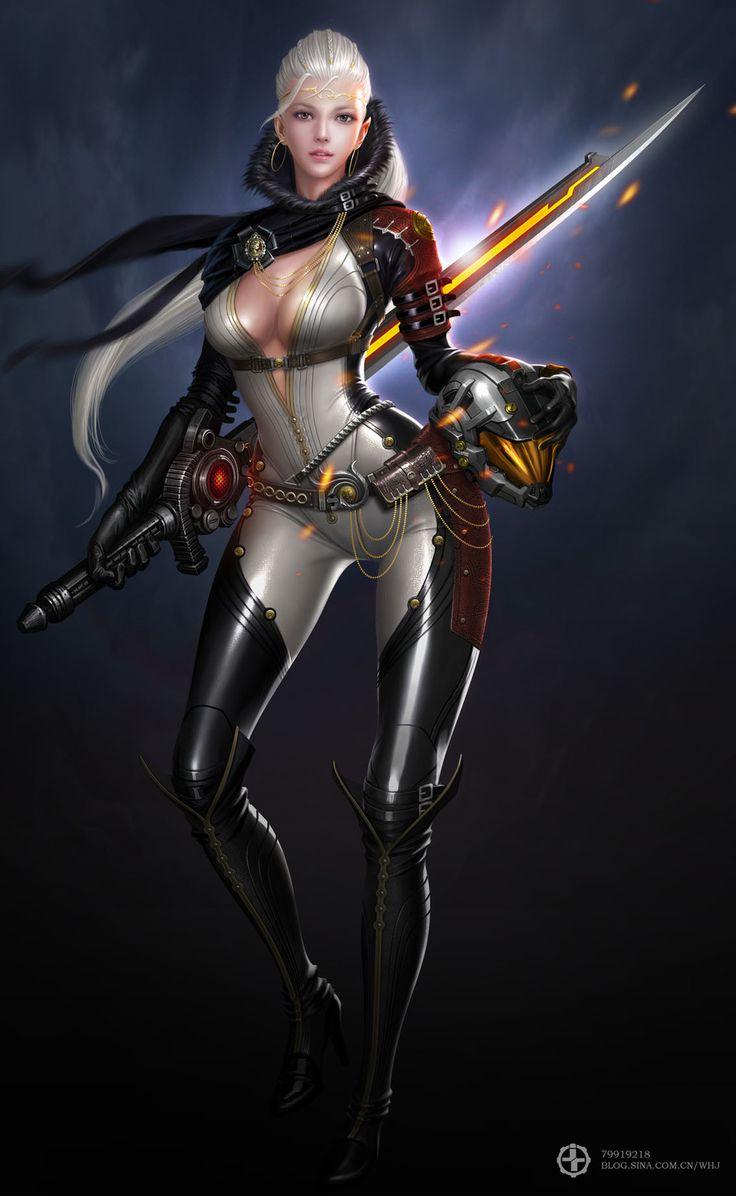 Female gun division by Pirate - haijun wang - CGHUB via PinCG.com
