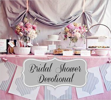 bridal shower christian devotional