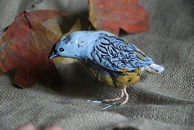 "Paper mache bird tutorial by Gale, 'that artist woman."""