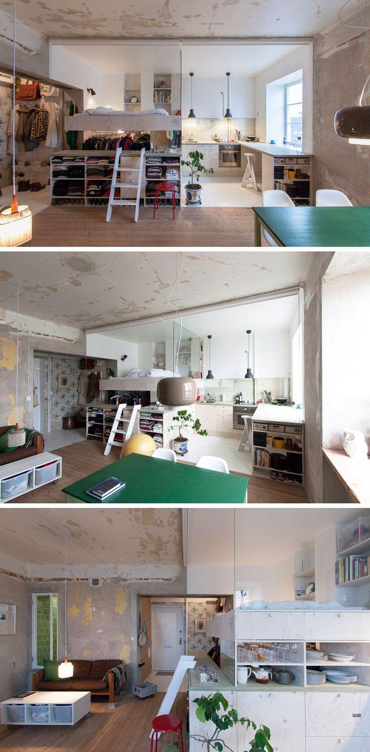 25 beste idee n over kleine appartementen op pinterest klein appartement keuken decoratie - Decoratie studio ontwerp ...