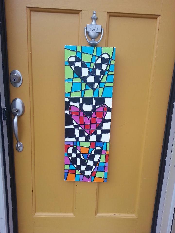 Heart door decor