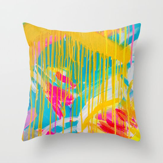 Freedom of colours pillow no.2 Throw Pillow