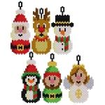 Awesome Santa and Friends. Make pendants or keychains using them!