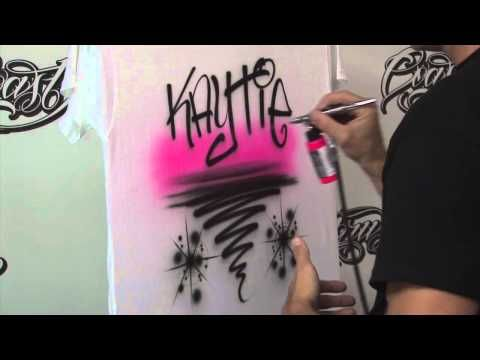 How to Airbrush T Shirts for Beginners Pt. 2 w/ Kent Lind