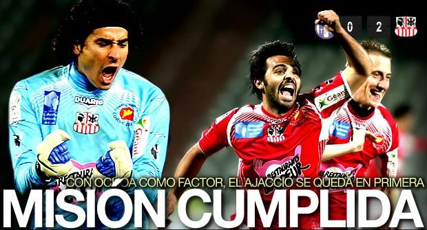 Toulouse 0-2 Ajaccio... Guillermo Ochoa cumplió su misión y salvó al Ajaccio