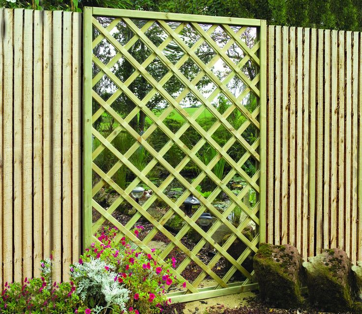 Garden Mirror Lattice Screen From Grange For Sale