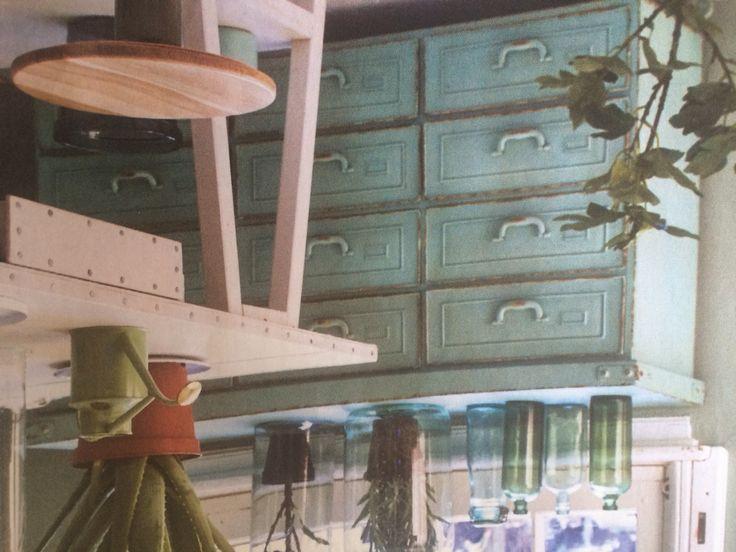 Oude meubels opknappen en OLd look schilderen schuren
