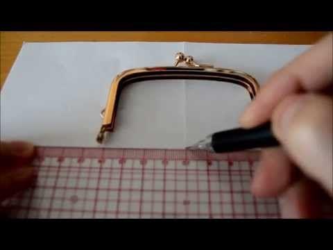 手縫四片式口金包教學 Handsew kisslock purse tutorial (4 pieces) - YouTube