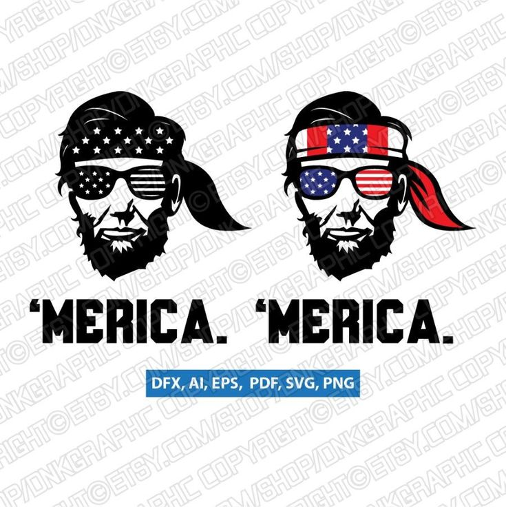President Abraham Lincoln Merica 4th of July SVG DXF Silhouette Cameo Cricut Cut File