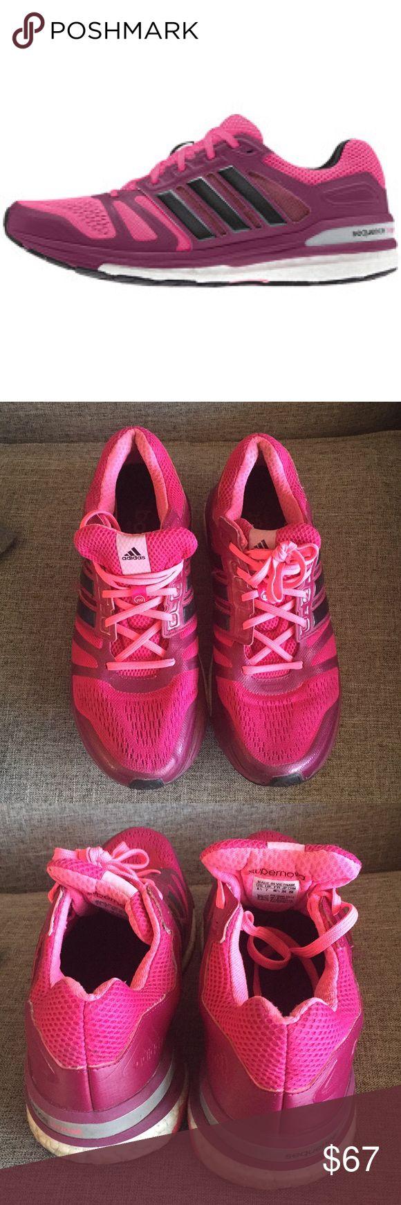 Adidas Supernova sequence shoes Adidas Supernova, size 81/2, Eu 40 2/3, pink & burgundy , very good condition adidas Shoes Athletic Shoes
