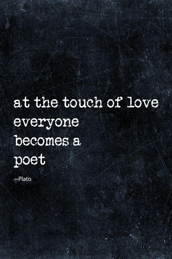 love inspirational quote typography words romantic life poet dark moody blue Text art
