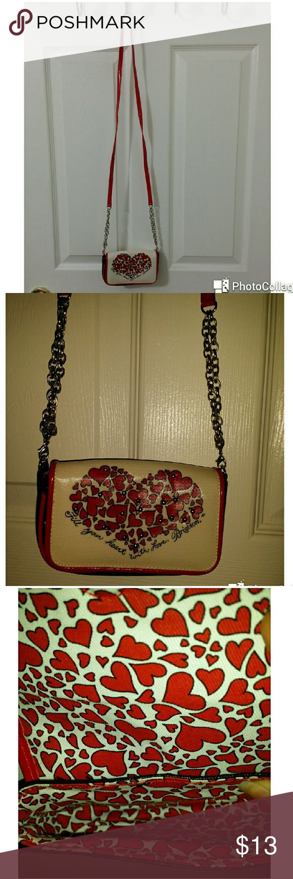 """Brighton Fill Your Heart Media Case Vinyl crossbody mini handbag media case from Brighton, """"Fill Your Heart Media Case"""". The case will hold your keys, cell phone and all the necessities. Brighton Bags Mini Bags"""