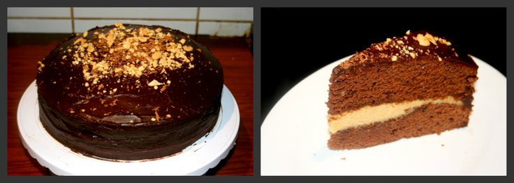 Chocolate Cake with a Salted Peanut Butter Cream filling and a chocolate Peanut Butter ganache. (Vegan)