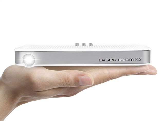 Laser Beam Pro C200 Focus Free HD Portable Projector for $485