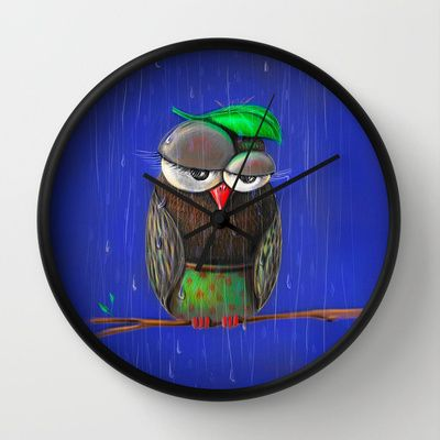 Rainy days Wall Clock by ioanazdralea - $30.00