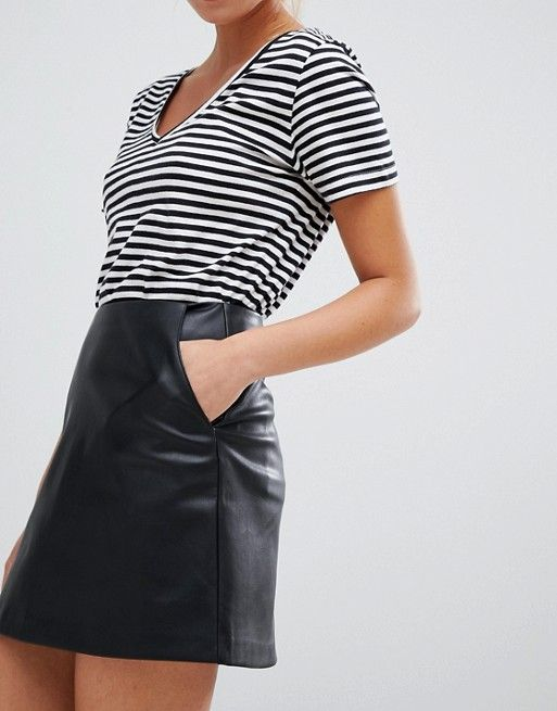 authorized site top-rated latest soft and light Pull&bear basic pu skirt | Fondos | Pull & bear, Skirts, Bear