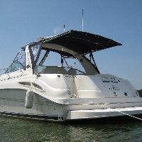 SureShade Retractable Shade Tops for Boats - Pleasure Cabin and Express Cruiser Boats Marine Canvas and Sunshade Solutions