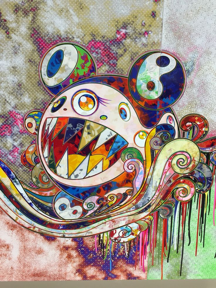 takashi murakami Takashi murakami - as the interdimensional waves run through me, i can distinguish between the voices of angel and devil — $ 3,500.