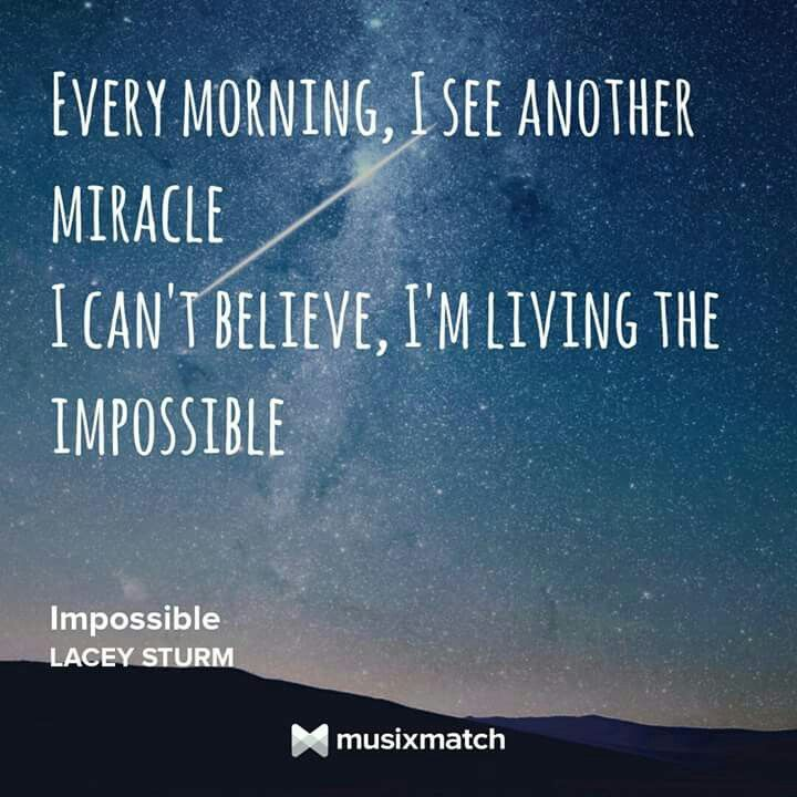 Living the #Impossible. Lacey Sturm. Life Screams. Lyrics. Rock.