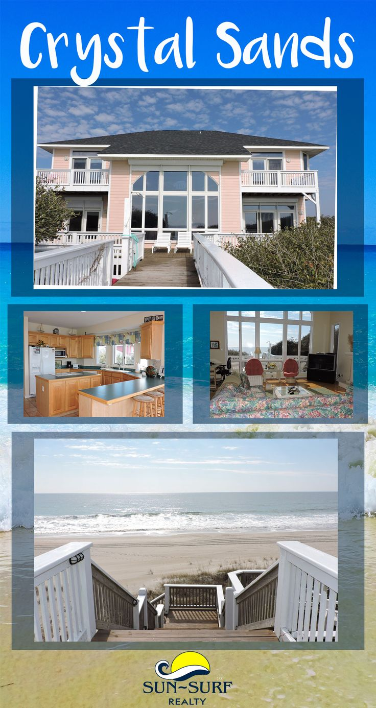 This OCEANFRONT home is absolutely lovely...and features 6 bedrooms. Book your Emerald Isle vacation today!