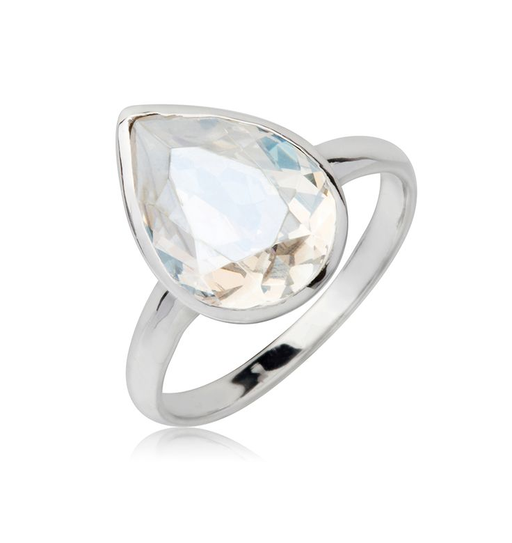 Moonlight Tear Drop 14x10mm Ring  $79.95 Tear drop 14x10mm Swarovski Crystal elements ring crafted with rhodium enhanced sterling silver. #Bling #SwarovskiCrystal #MarisaKateDesigns #Love #Moonlight