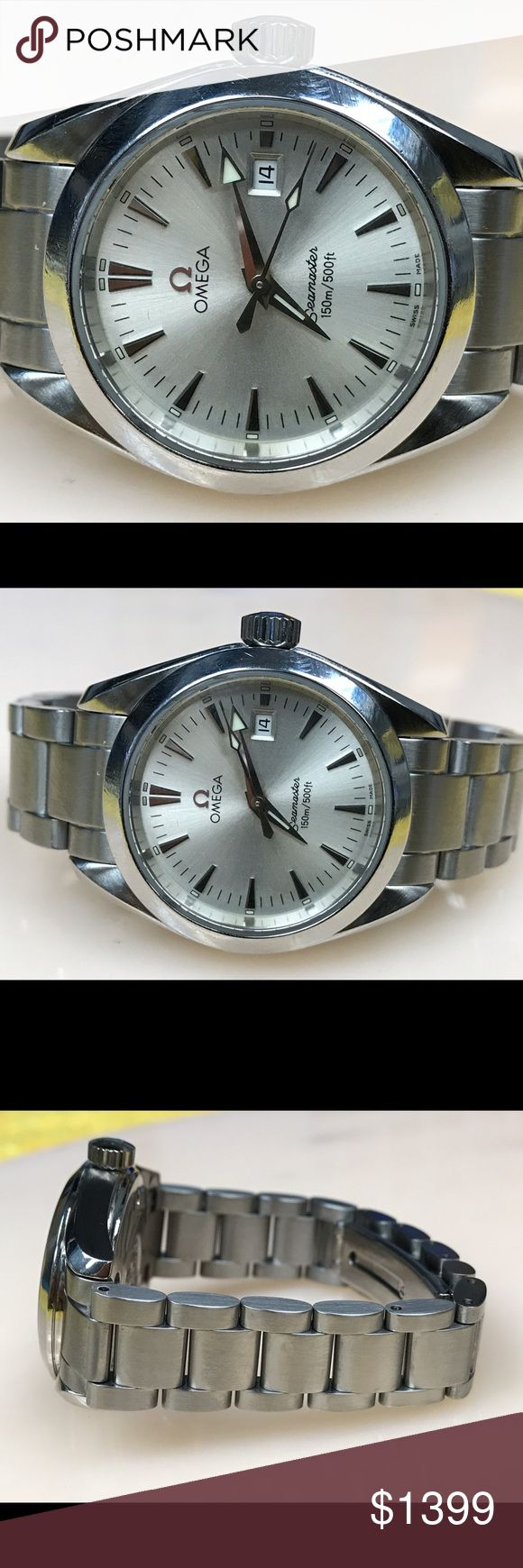 Omega seamaster aquaterra quartz women's watch. 💯 % authentic omega seamaster quartz women's watch. Date display. 150m water resistance.  Works great no flaws. Omega Accessories Watches