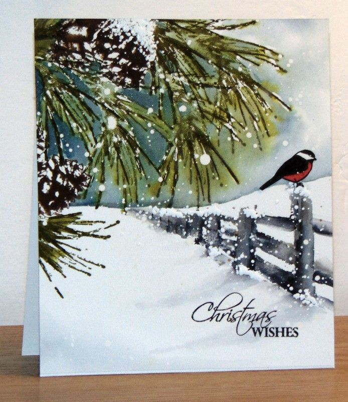 P'tit oiseau sur clôture by Micheline Jourdain - Cards and Paper Crafts at Splitcoaststampers