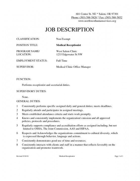 Medical Office Front Desk Job Description - Best Desk Chair for Back