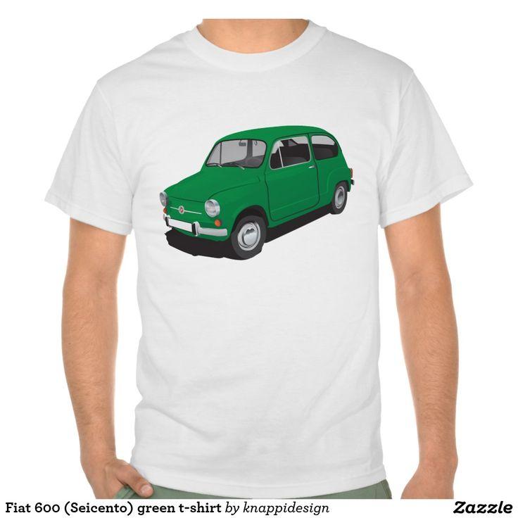 Fiat 600 (Seicento) green t-shirt  Fiat 600 (Seicento) black t-shirt  #fiat #fiat600 #seicento #tshirt #tshirts #tpaita #troja #skjorta #italy #automobile #bilar #auto #classic #vintage
