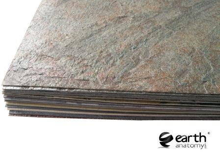 Flexible Slate Veneer 1mm Natural Stone Sheet Thin