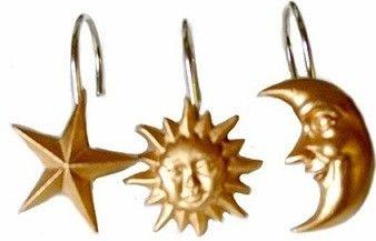 Celestial-Shower-Curtain-Or-Shower-Curtain-Rings-Hooks-Moons-Stars-Suns-Choice