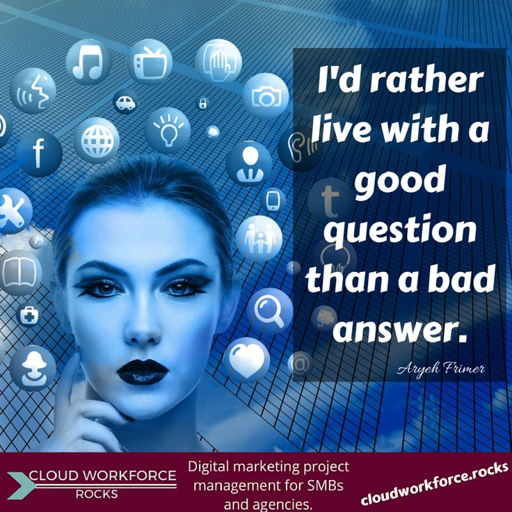 I'd rather live with a good question than a bad answer.- Aryeh Frimer #quote #entrepreneur