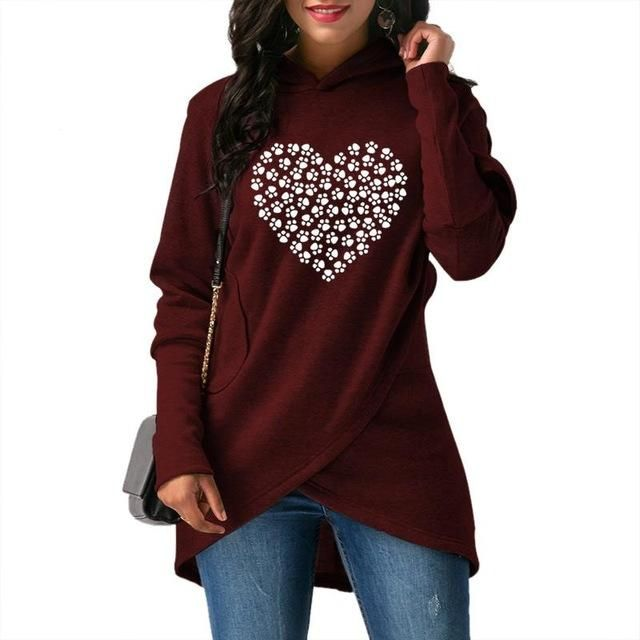 Women's Clothing Women Autumn And Winter Cat Print Sweatshirt Loose Round Neck Long Sleeve Pullover Sweatshirts Female Moletom Feminino Elegant And Sturdy Package