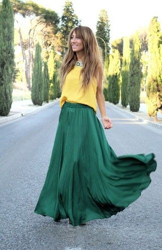 97 best maxi skirt images on Pinterest