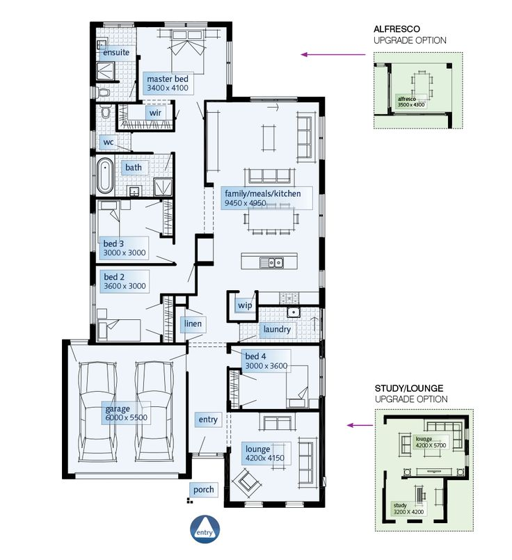 17 best images about floor plans less than 300sq on for Allworth home designs