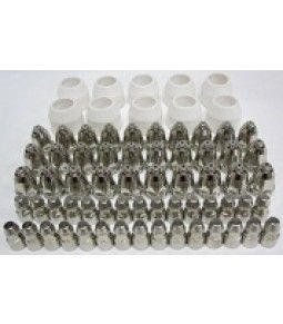 70AMP CONSUMABLES 70 PIECE SET 30 ELECTRODES 30 TIPS 1.5mm 10 CERAMIC CUPS  CA$180.00