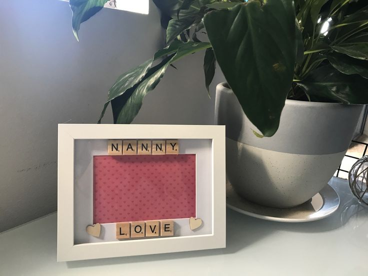 Nanny Love Scrabble Frame - Handmade - Can be personalised