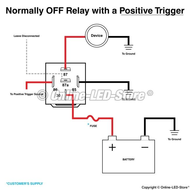 relay diagram 5 pin wiring 5 pin relay wiring diagram