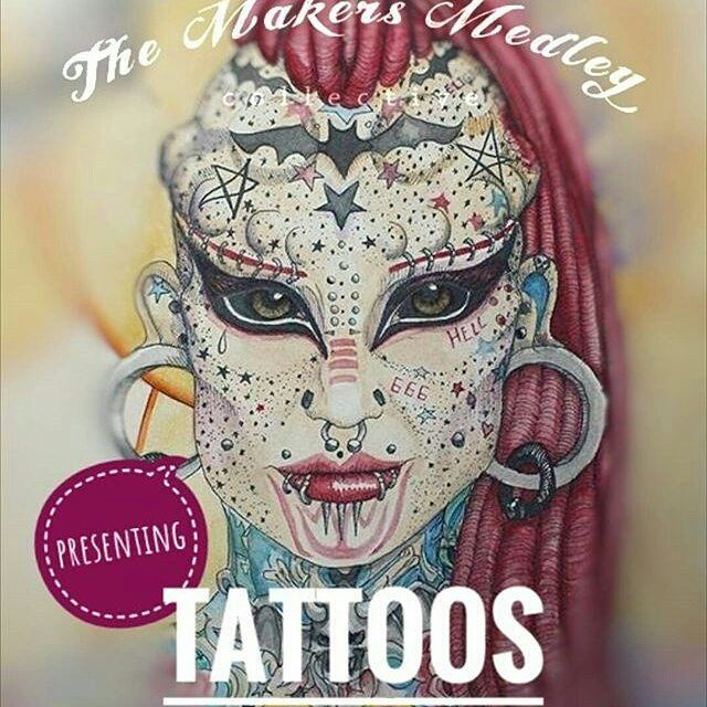 So excited about the next challenge for the Makers Medley group I'm part of.  Can't wait to see what we all come up with Check out the group and see all our past dolls and get involved yourself  #Repost @themakersmedley (@get_repost)  This is going to be AMAZEBALLS!!! Next theme from @themakersmedley TATTOOS!!!! Whoop whoop.  JOIN US!! You have approx 30 days. It can be ANY medium you wish. Post this pic to show your participation tag us @themakersmedley so we know  and post on reveal day…