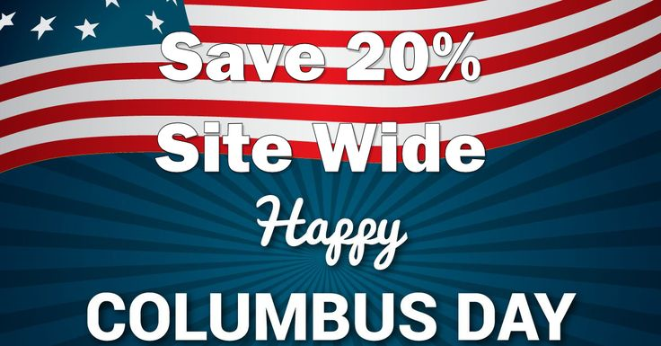 Ocotber 8, 2016 Weekend Deal: Save 20% Site Wide During Columbus Day Weekend - http://vapingdiscounts.com/columbus-day/ #vapingdiscounts #vape