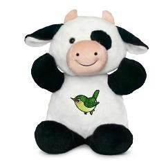 Cute Emerald Green Bird on Sully the Cow $22.79 #cute #bird #cow #plushie