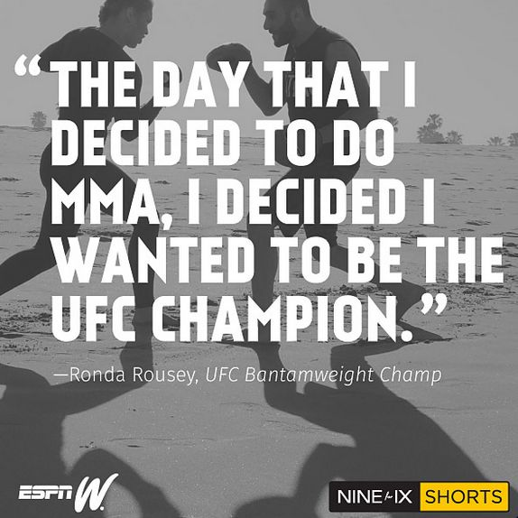 Rowdy Ronda Rousey: the story behind the UFC's first female bantamweight champion. Click to watch the Nine for IX short.