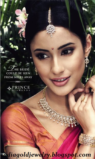 Latest Indian Gold and Diamond Jewellery Designs: Diamond Jewellery By Prince Jewellers