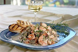 Champagne Shrimp with Rosemary