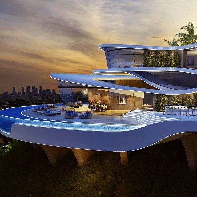 Surprising Futuristic Mansion Contemporary Best Inspiration Home